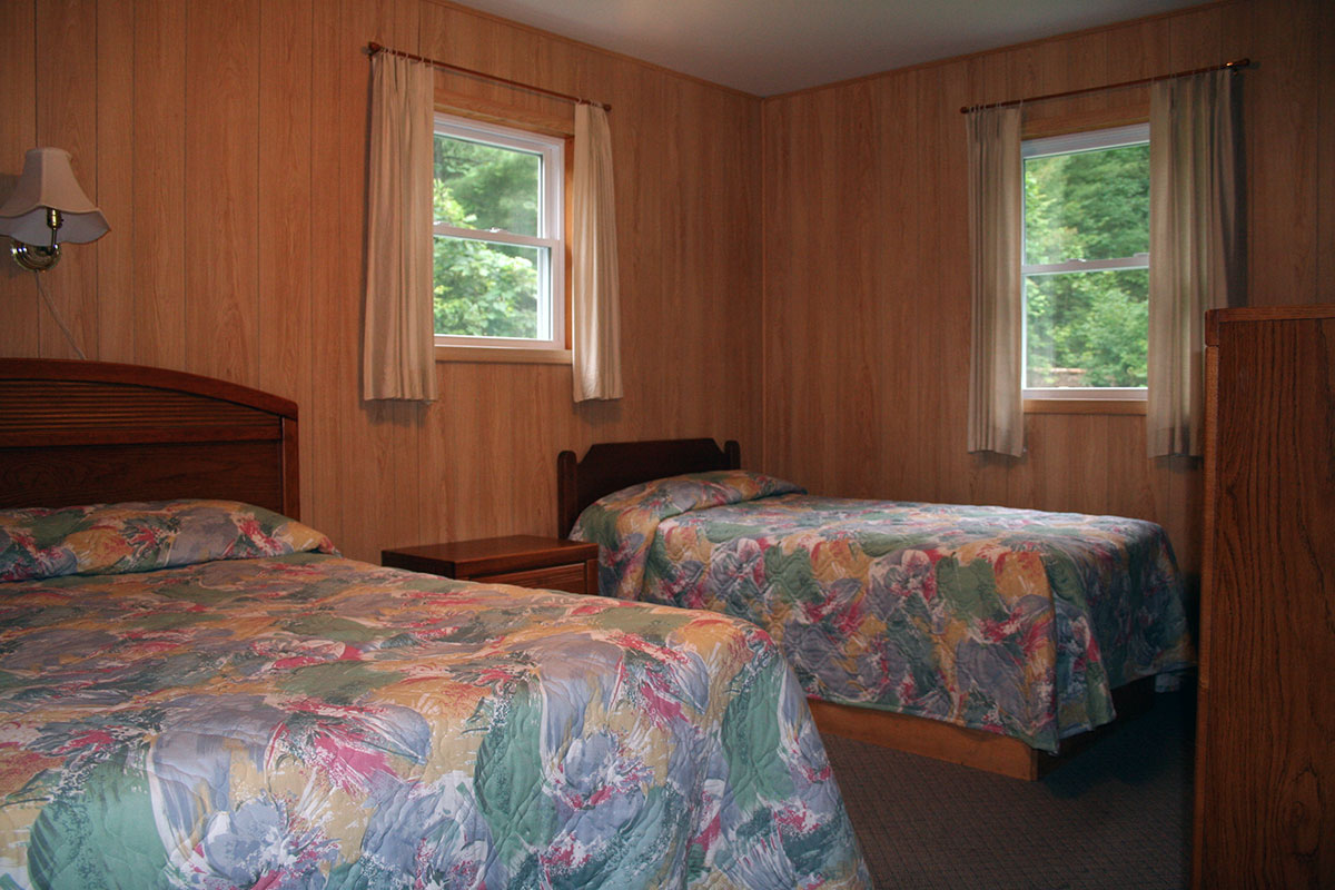 Cottage #8 - Bedroom with Twin and Double Bed