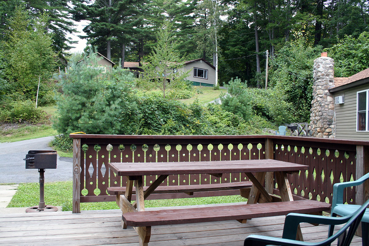 Relax on the deck of one of our hillside cottages