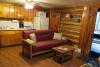 Hillside Log Cabin #6 Living Room & Kitchen.