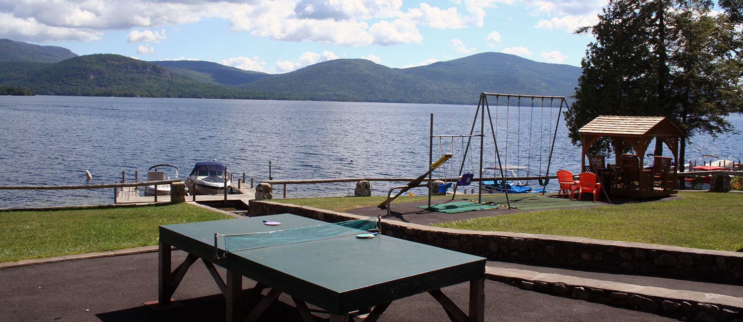 Ping pong at the lake