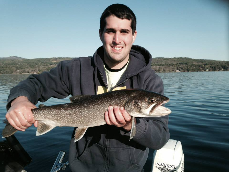 John and Billy DeMunda fishing for lake trout on Lake George