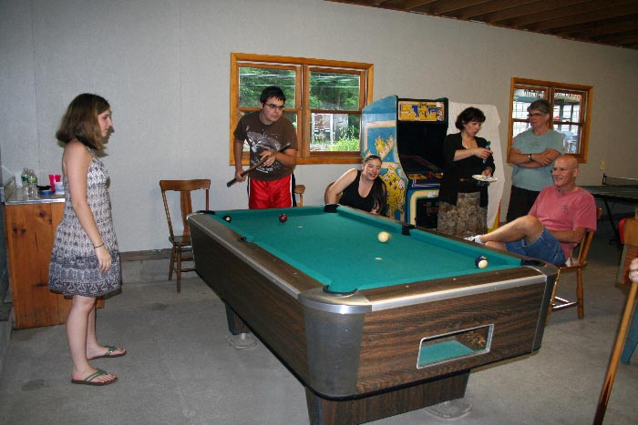 Pool table in our recreation hall
