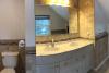 Large upstairs bathroom with shower & deep whirlpool tub.
